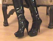 BDSM CLIP - Latex-Stiefel